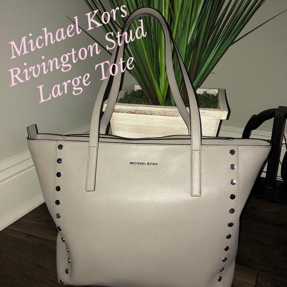 4b1ea6f0c633 MICHAEL Michael Kors Bags | Michael Kors Rivington Stud Large Tote ...